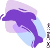 Dolphins Vector Clipart illustration