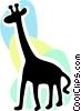 Giraffes Vector Clipart image