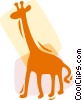 Giraffes Vector Clipart graphic