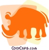 Vector Clipart graphic  of a Rhinoceros