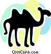 Camels Vector Clip Art graphic