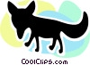 Vector Clip Art image  of a Foxes