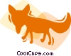 Vector Clip Art graphic  of a Foxes