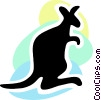 Kangaroos Vector Clip Art graphic