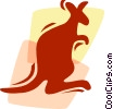Kangaroos Vector Clipart graphic