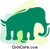 Elephants Vector Clipart illustration