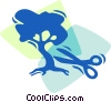 Bonsai Trees Vector Clipart graphic