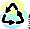 Vector Clip Art image  of a Recycling Symbols