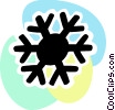 Vector Clipart picture  of a Snowflakes