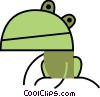 Vector Clip Art graphic  of a Frogs