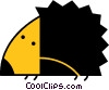 Vector Clipart graphic  of a Porcupines