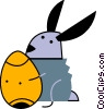 Easter bunny with an Easter egg Vector Clipart illustration