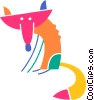 Vector Clipart image  of a Foxes