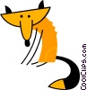 Vector Clipart graphic  of a Foxes