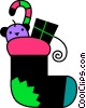Vector Clipart graphic  of a Stockings