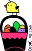 Easter basket with Easter eggs and a chic Vector Clip Art picture