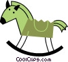 Vector Clip Art picture  of a Rocking Horse