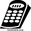 Vector Clipart graphic  of a Remote Controls