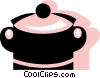Vector Clip Art picture  of a Pots and Pans
