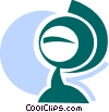 Globes Vector Clipart picture