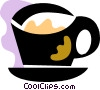Vector Clip Art image  of a Cups of Coffee