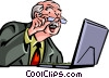 Vector Clip Art image  of a Businessmen
