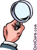 Magnifying Glasses Vector Clip Art graphic