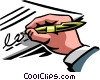 Vector Clip Art graphic  of a Hands Working