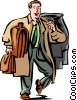 Vector Clip Art graphic  of a Business Travel