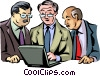 Businessmen Vector Clip Art graphic