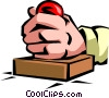 Vector Clipart image  of a Rubber Stamps