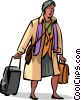 Vector Clip Art picture  of a Business Travel