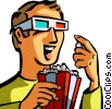 Vector Clip Art graphic  of a Theaters