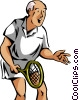 Tennis player Vector Clip Art graphic