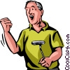 Man with putter Vector Clipart illustration