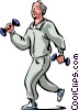 Vector Clip Art graphic  of a Bodybuilding and Weight