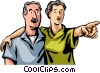 Vector Clipart illustration  of a Senior Citizens
