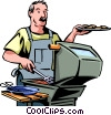 Vector Clip Art graphic  of a Picnics and Barbecues