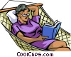 Vector Clip Art image  of a Relaxing at Home or Cottage
