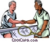 Tennis players shaking hands Vector Clipart picture