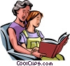 People with Books Vector Clipart graphic