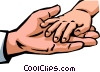 Hands Working Vector Clipart image