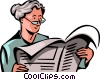 Vector Clip Art picture  of a Periodicals Newspapers