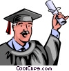 Graduates Vector Clip Art graphic
