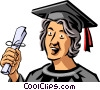 Vector Clipart picture  of a Graduates