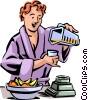 Vector Clip Art graphic  of a Healthy Breakfast