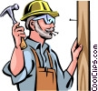 Vector Clip Art image  of a Carpenters