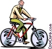 Vector Clip Art picture  of a Cyclists