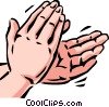 Hands Working Vector Clipart graphic