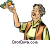 Vector Clip Art graphic  of a Senior Citizens